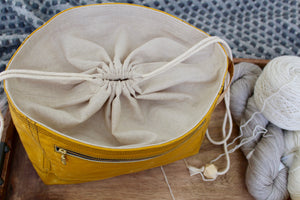 *PRE-ORDER* Yellow Waxed Canvas Niffin Bag