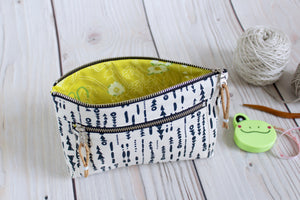 Devon Pouch Made From Anna Graham's Forage Collection for Essex Linen Fabric