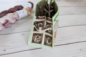 Black Forest Inside Outside Pouch | Animal Portraits in Green