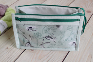 Natural History Inside Outside Pouch | Rabbits in Blue