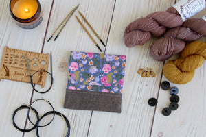 Interchangeable Knitting Needle Case 6-Tip | Pansies Floral