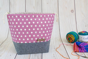 Shawl Sack | Polka Dot Kitties