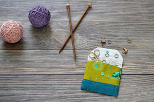 Knitting Notions Pouch | Elizabethan Floral Print Notions Pouch