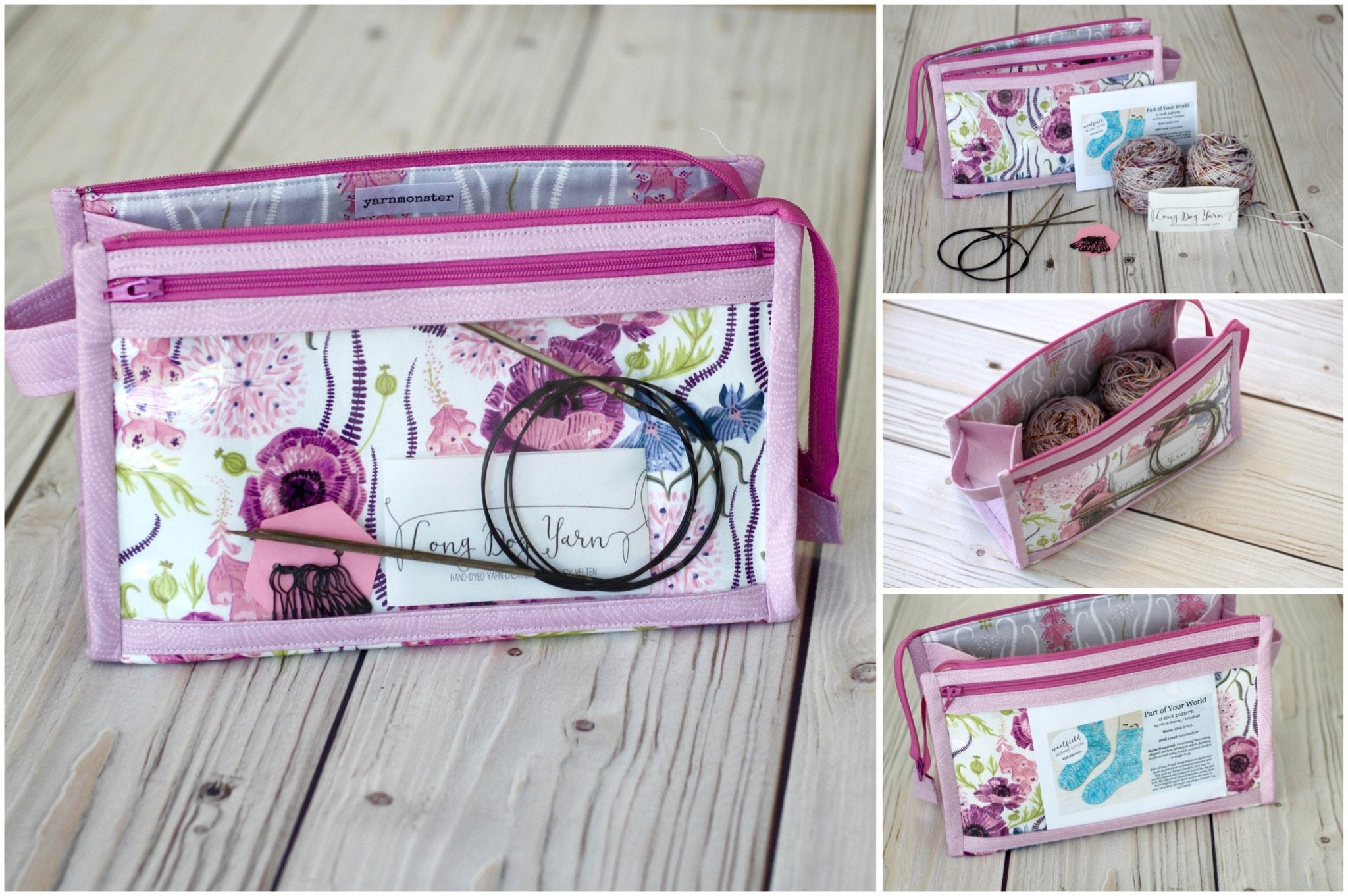 THIS ONE Project Bag | Caturday Inside Outside Pouch