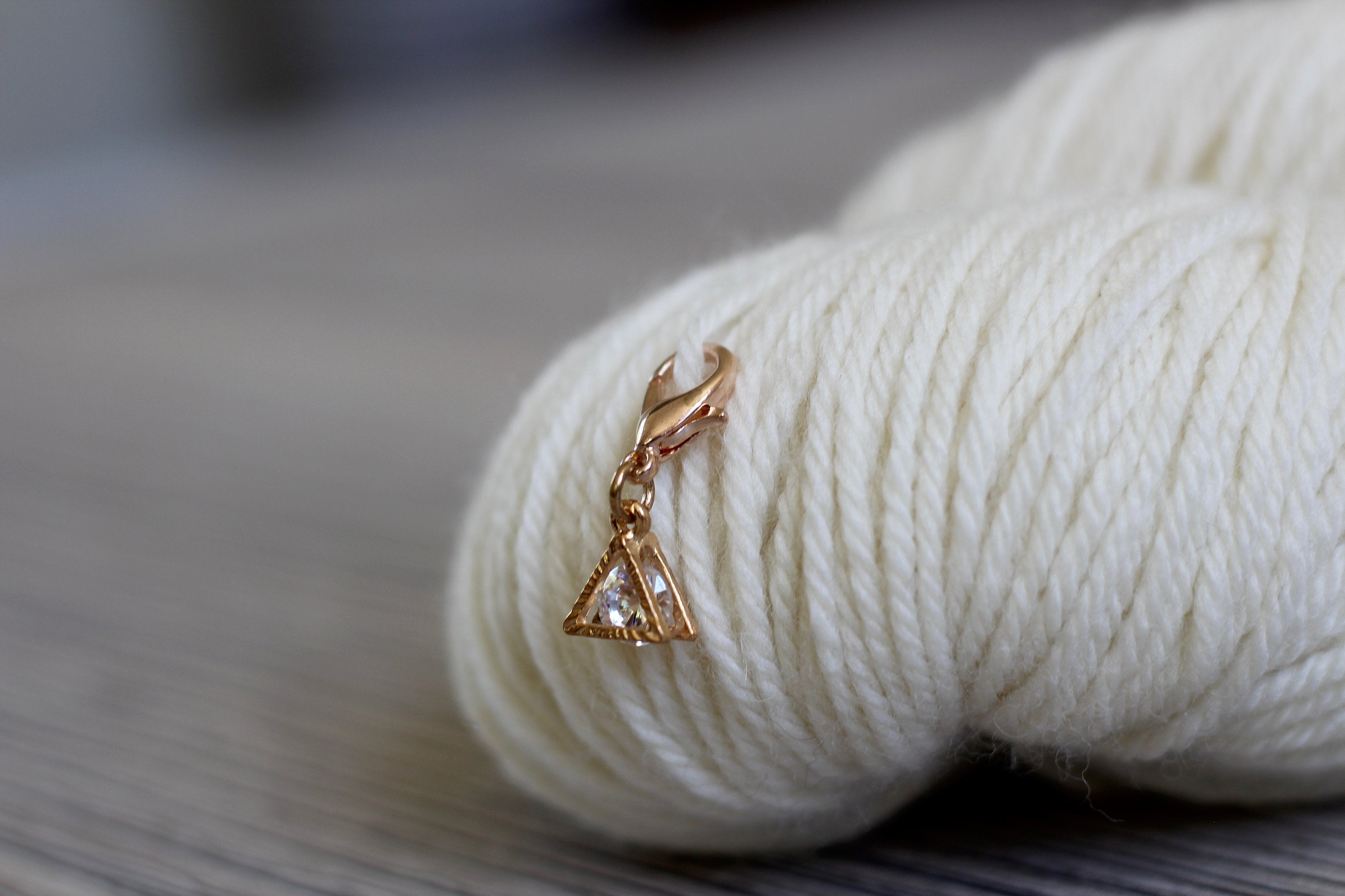 Progress Keeper | Rose Gold Triangular Progress Keeper with Trapped Stone