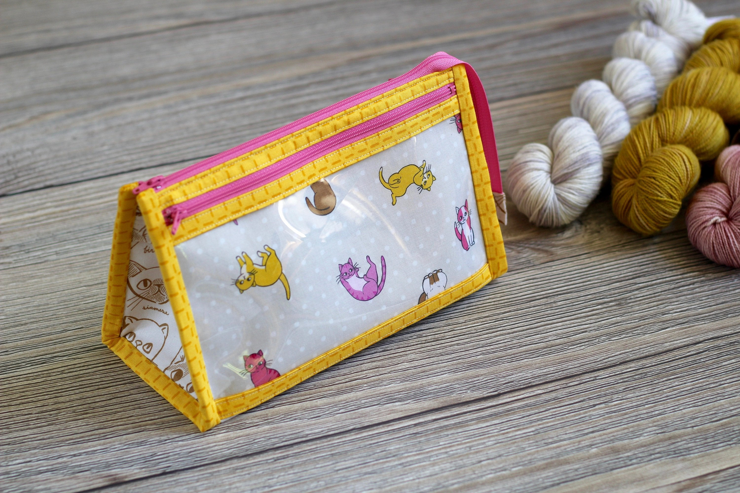 Caturday Inside Outside Pouch | Floating & Falling Cats