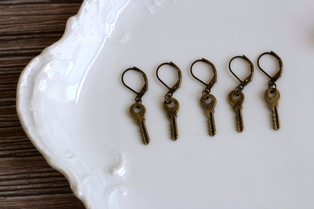 Progress Keeper | Set of Five Antique Bronze Keys Progress Keeper