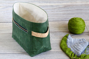 *PRE-ORDER* Cypress Green Waxed Canvas Niffin Bag