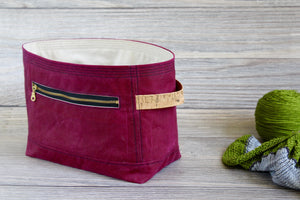 Garnet Red Waxed Canvas Niffin Bag