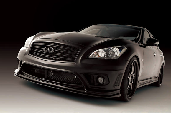Varis Carbon Front Bumper Extension For 2011-19 Infiniti M37 [Y51] Vani-053