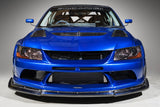 Solid & Joker Widebody Frp Front Bumper + 12k Carbon Lip For 2005-07 Mitsubishi Evo IX [CT9A] HAM-004C