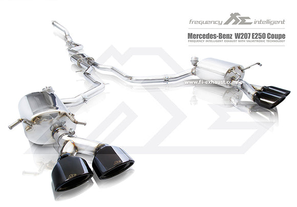 Fi Exhaust - Mercedes Benz W207 E250 Coupe Modified Kit/ Aftermarket Diffuser