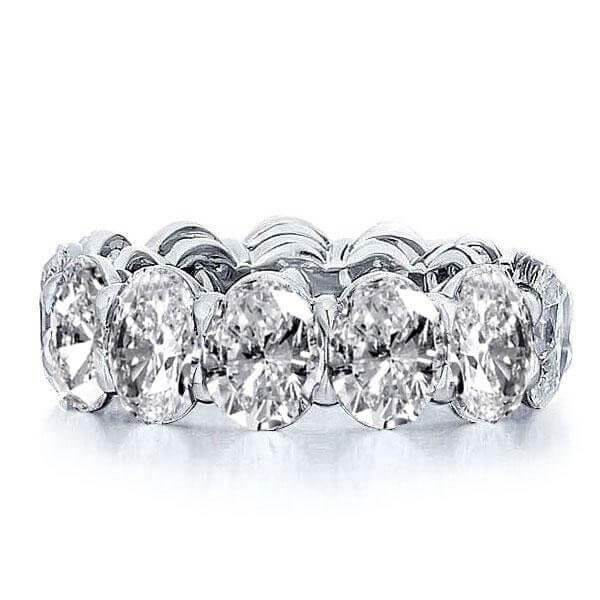 Jewmara Classic Eternity Oval Cut Women's Wedding Band