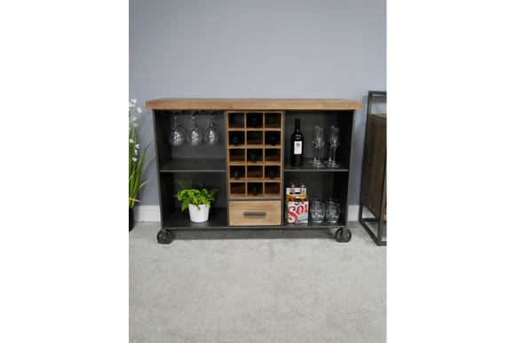 Industrial Vintage Retro Large Wine Cabinet Sideboard