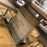 Milan Cappuccino Extending Dining Table & 6 Chairs
