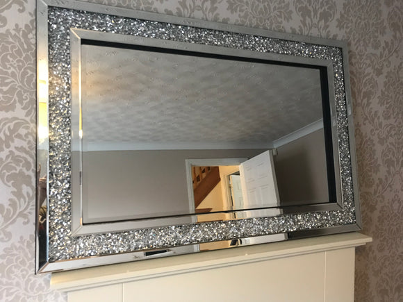 Gatsby Crushed Diamond Large 120x80cm Wall Mirror BEST SELLER!