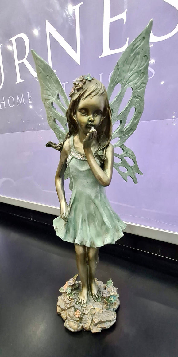 Standing Flower Fairy Blowing a Kiss Ornament