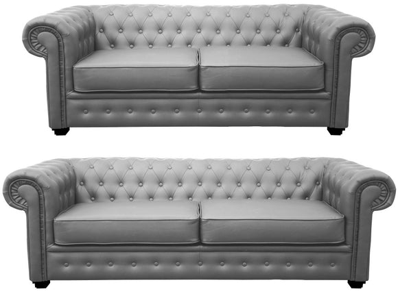 Chesterfield Faux Leather Sofa Range