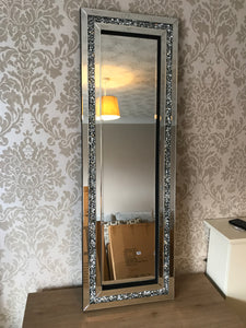 Gatsby Crushed Diamond Mirrored Wall Mirror
