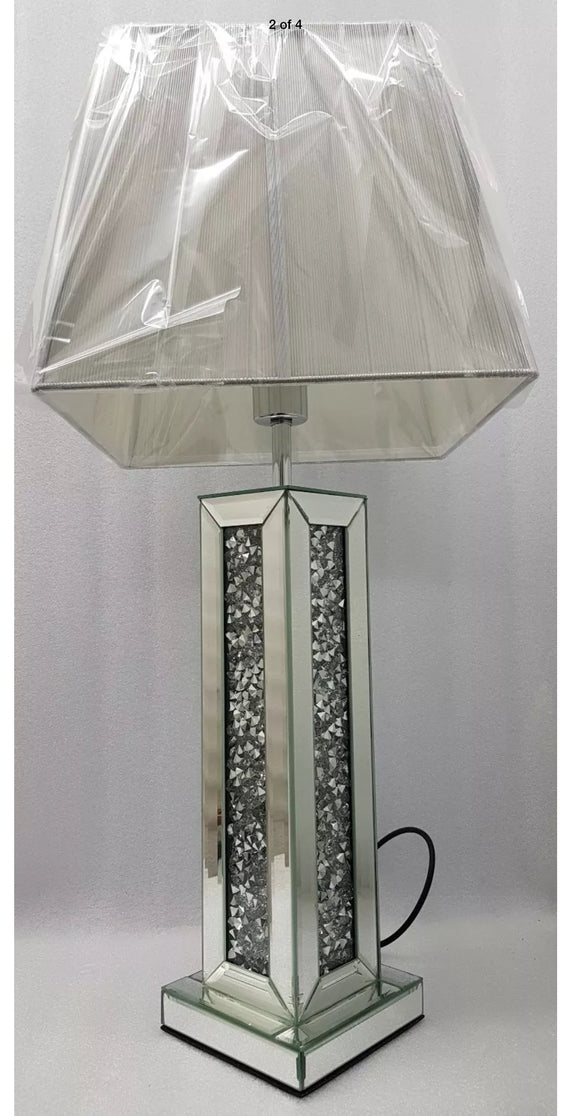 Gatsby Crushed Diamond Mirrored Large Table Lamp