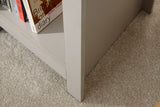 Lancaster Side Table With Shelf in Grey With Oak Effect Top