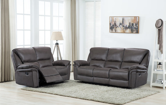 Boston Grey Reclining Sofa Range