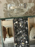 Gatsby Crushed Diamond Mirrored Candle Holder