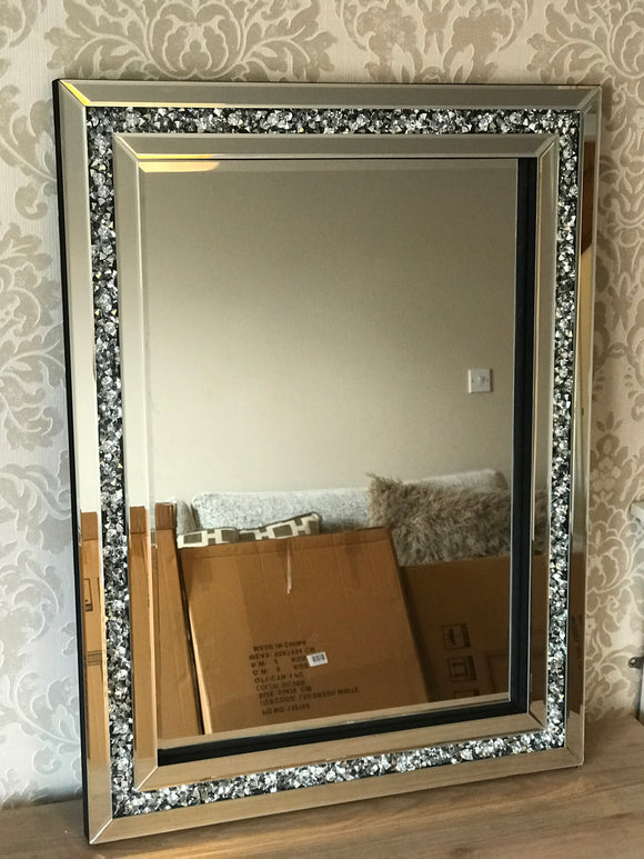 Crushed Diamond 60x80cm Wall Mirror