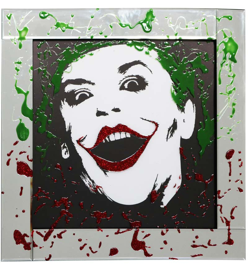 Joker On Mirrored Frame