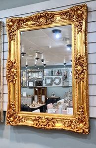 Antique Gold French Ornate Wall Mirror 120cm x 90cm