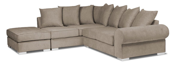 New Royal Corner Sofa Complete With Footstool - Various Colours Available