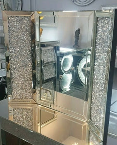 Crushed Diamond Mirrored Dressing Table Mirror