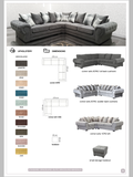 Molly Left or Right & XL Corner Sofas - 10 Colours Now Available