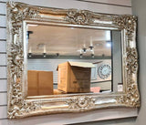 Antique Silver French Ornate Wall Mirror 120cm x 90cm