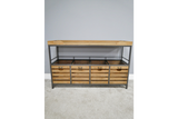 Large Industrial Retro Vintage Storage Cabinet Sideboard With Drawers