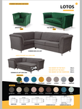 New Lotus Lux Corner Sofa - 8 Glamour Plush Velvet Fabric Colours