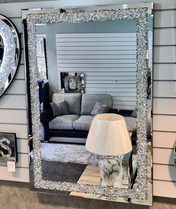 Crushed Diamond Mirrored 120 x 80cm Mirror
