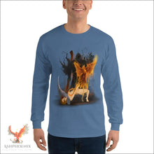 Load image into Gallery viewer, Soul Of A Phoenix Long Sleeve T-Shirt - Indigo Blue / S