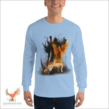 Load image into Gallery viewer, Soul Of A Phoenix Long Sleeve T-Shirt - Light Blue / S
