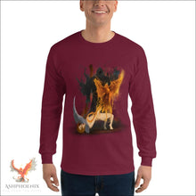 Load image into Gallery viewer, Soul Of A Phoenix Long Sleeve T-Shirt - Maroon / S