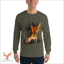 Load image into Gallery viewer, Soul Of A Phoenix Long Sleeve T-Shirt - Military Green / S