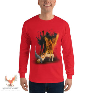 Soul Of A Phoenix Long Sleeve T-Shirt - Red / S