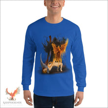 Load image into Gallery viewer, Soul Of A Phoenix Long Sleeve T-Shirt - Royal / S