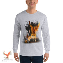 Load image into Gallery viewer, Soul Of A Phoenix Long Sleeve T-Shirt - Sport Grey / S