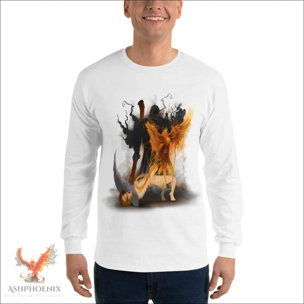 Soul Of A Phoenix Long Sleeve T-Shirt - White / S