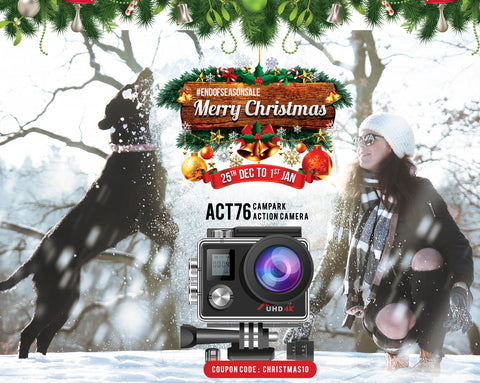 campark camera discount for Christmas, Xmas holiday
