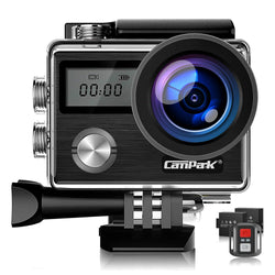 Campark X20C Action Camera Native 4K Ultra HD 20MP with EIS Stablization Touch Screen Remote Control