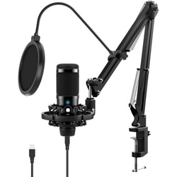 Jeemak  PC20 USB Microphone Kit for Computer Professional Condenser Microphone Set