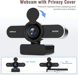 Campark PC03 HD 1080P Webcam with Microphone Privacy Shutter for Desktop
