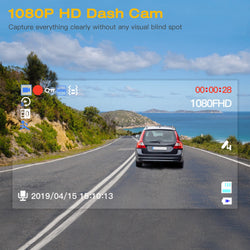 "Campark DC01 Dash Cam 1080P FHD DVR Dashboard Camera for Cars 3"" LCD Screen"